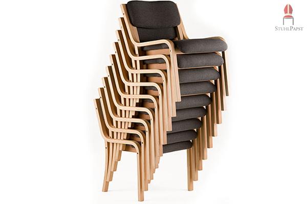 Konferenzstuhl holz  24 günstige stapelbare Seminarstühle zum Paket-Sonderpreis auf ...